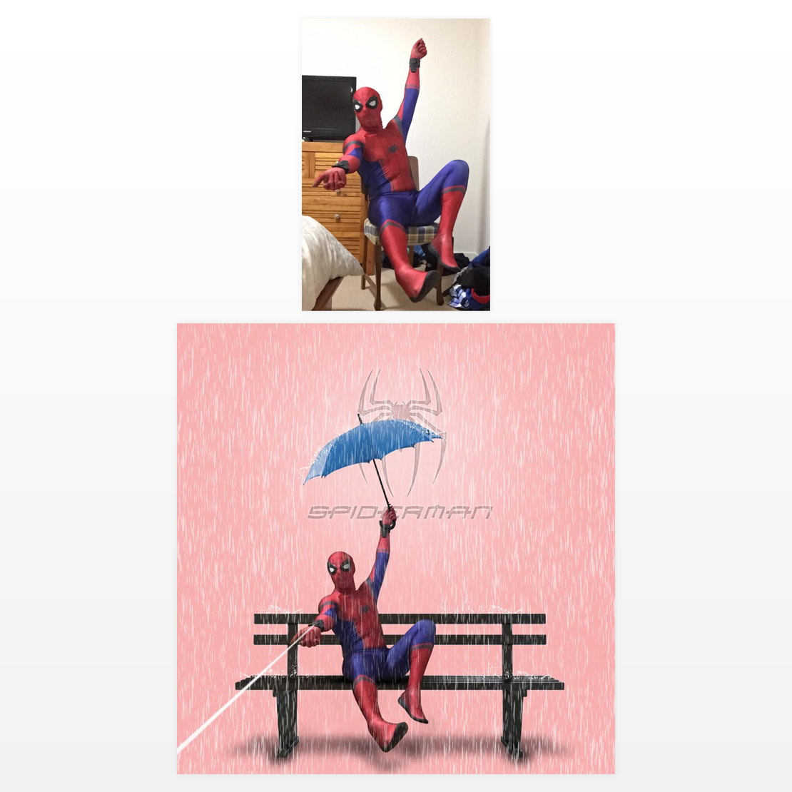 Manipulation-cosplay-spiderman-rainy